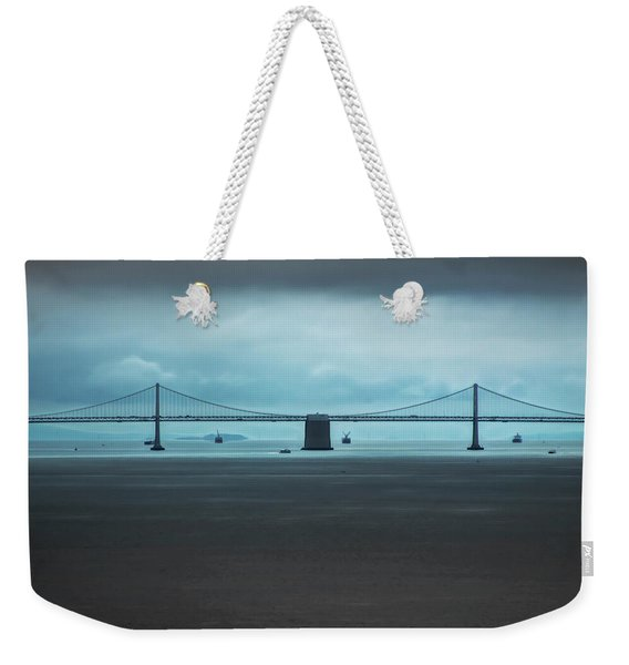 The San Francisco - Oakland Bay Bridge Weekender Tote Bag