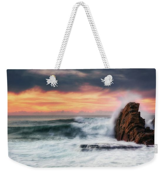 The Sea Against The Rock Weekender Tote Bag