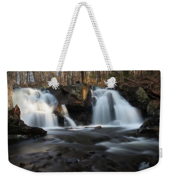 The Secret Waterfall In Golden Light Weekender Tote Bag