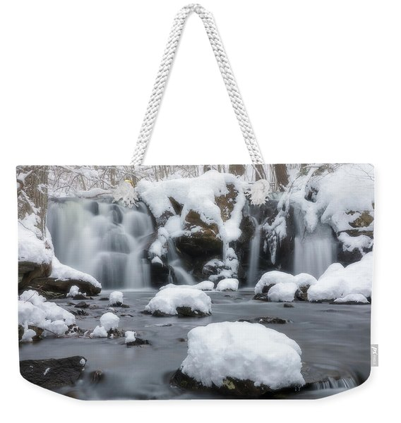 The Secret Waterfall In Winter 1 Weekender Tote Bag