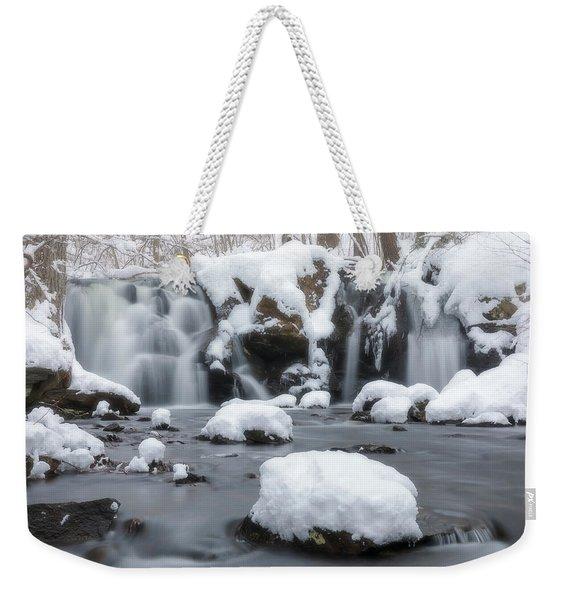 The Secret Waterfall In Winter 1 Weekender Tote Bag