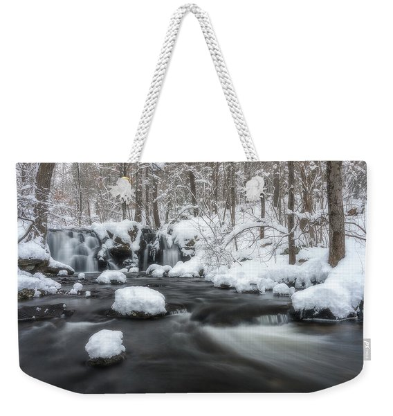 The Secret Waterfall In Winter 2 Weekender Tote Bag