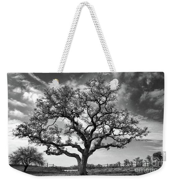Weekender Tote Bag featuring the photograph The Sentinel Bw by Jemmy Archer