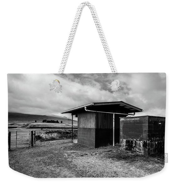 Weekender Tote Bag featuring the photograph The Shack by Break The Silhouette