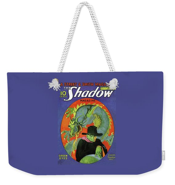 The Shadow Green Eyes Weekender Tote Bag