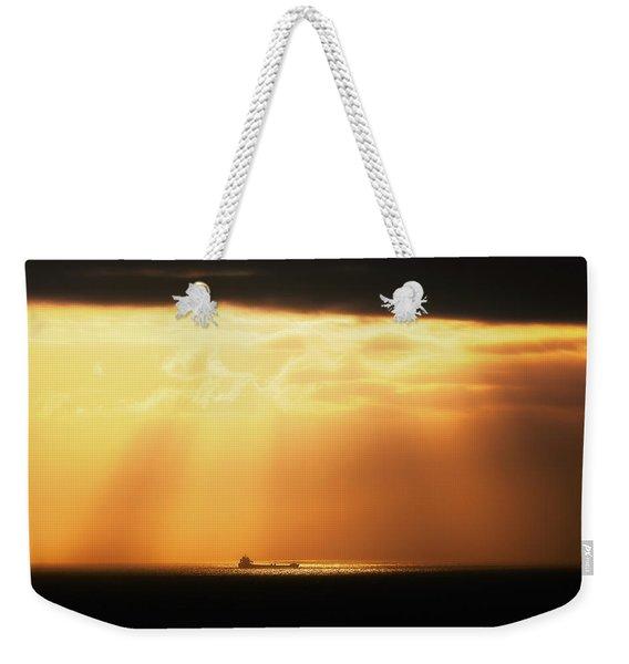 The Ship Weekender Tote Bag