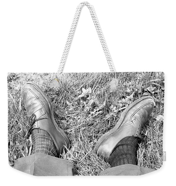 The Shoes Of A Teaching Assistant, 1979 Weekender Tote Bag