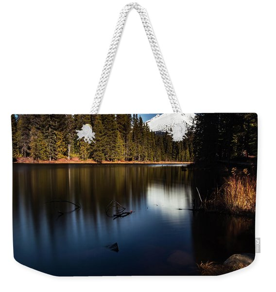 The Silence Of The Lake Weekender Tote Bag