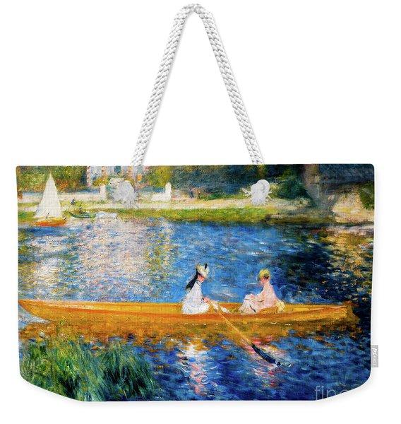 Renoir Boating On The Seine Weekender Tote Bag