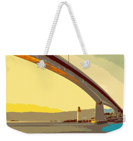 The Skye Bridge And Kyleakin Lighthouse  Weekender Tote Bag