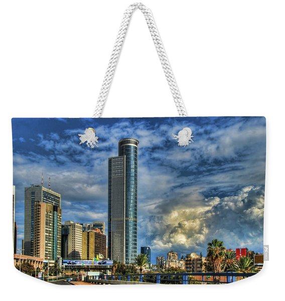 The Skyscraper And Low Clouds Dance Weekender Tote Bag