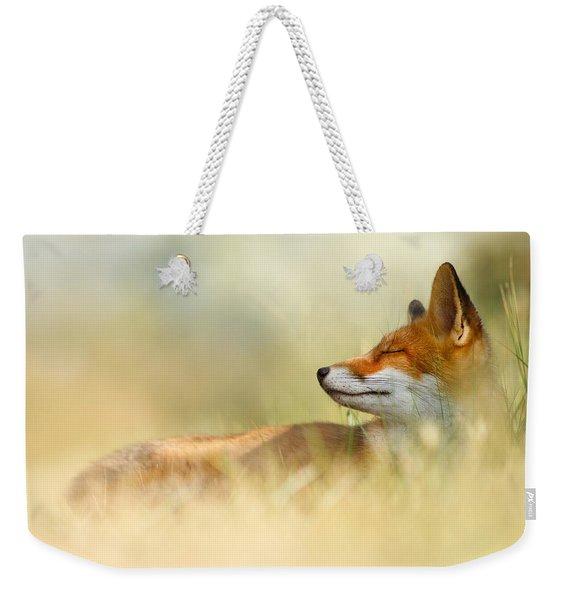 The Sleeping Beauty - Wild Red Fox Weekender Tote Bag