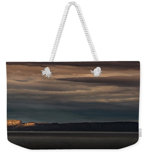 The Sleeping Giant Sunspot Pano Weekender Tote Bag