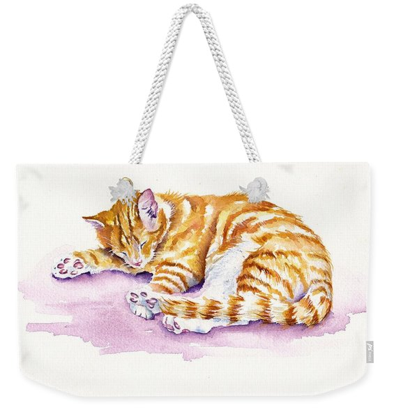 The Sleepy Kitten Weekender Tote Bag