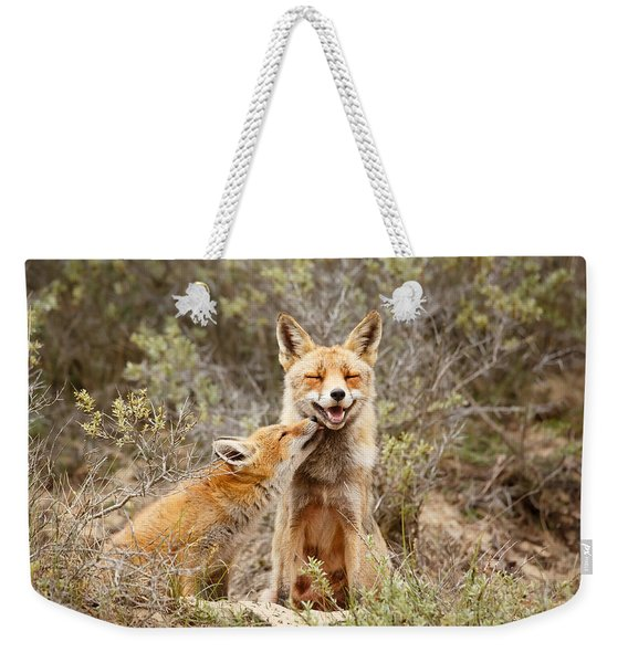 The Smiling Vixen And The Happy Kit Weekender Tote Bag