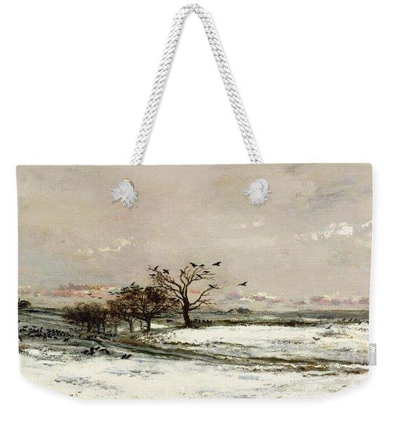The Snow Weekender Tote Bag