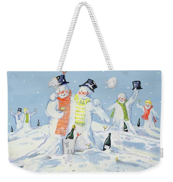 The Snowmen's Party Weekender Tote Bag