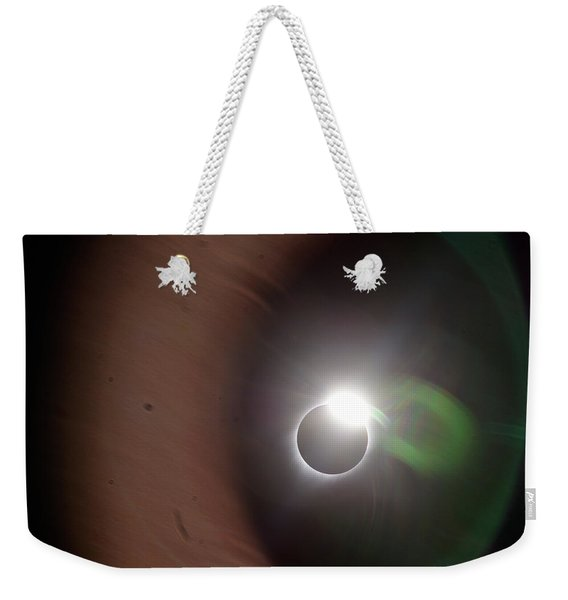 The Solar Iris Of An Eclipse Weekender Tote Bag