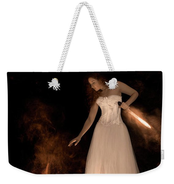 Weekender Tote Bag featuring the photograph The Sorceress And The Sword by Clayton Bastiani