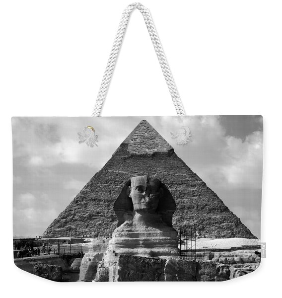 The Sphynx And The Pyramid Weekender Tote Bag