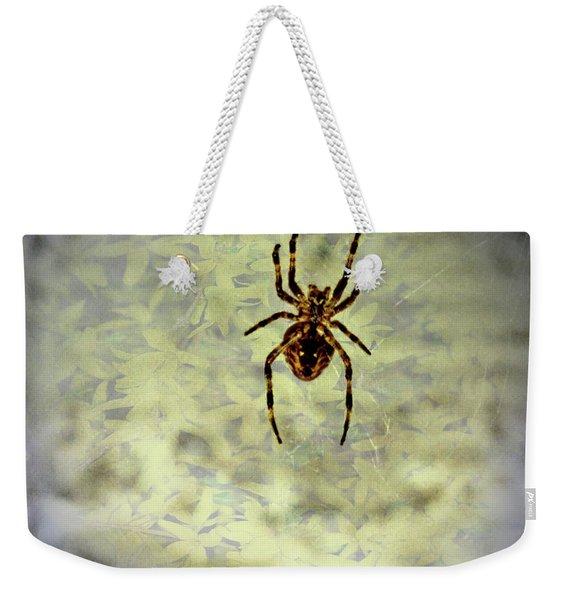 The Spider Waits Weekender Tote Bag