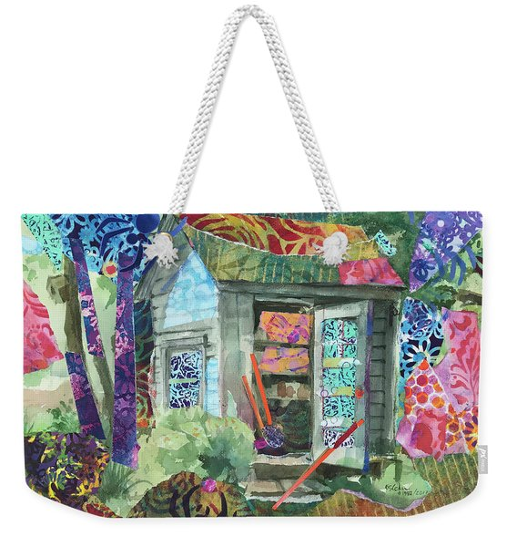 The Spider's Shed Weekender Tote Bag