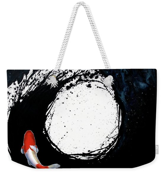 Weekender Tote Bag featuring the painting The Spiral by Sandi Baker