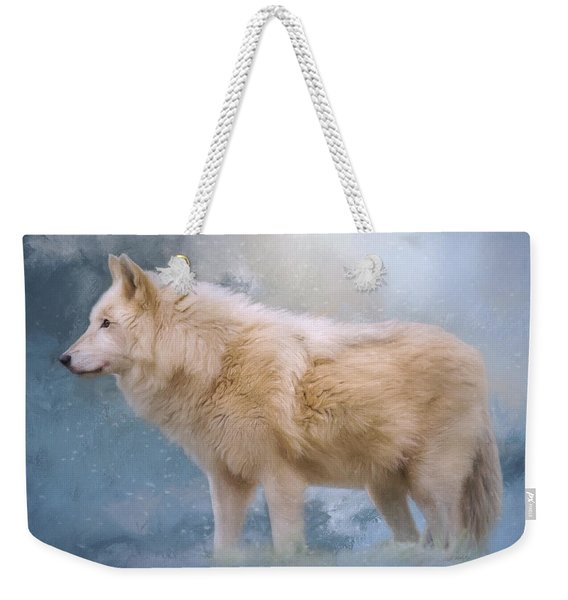 The Spirit Within - Arctic Wolf Art Weekender Tote Bag