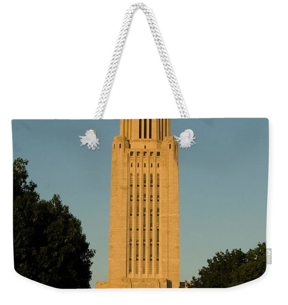 The State Capitol Building In Lincoln Weekender Tote Bag