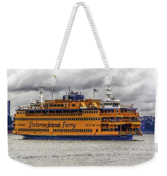 The Staten Island Ferry Weekender Tote Bag