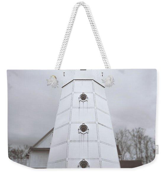 The Steel Tower Weekender Tote Bag
