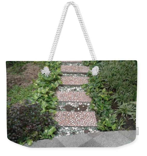 The Stepping Stone Weekender Tote Bag