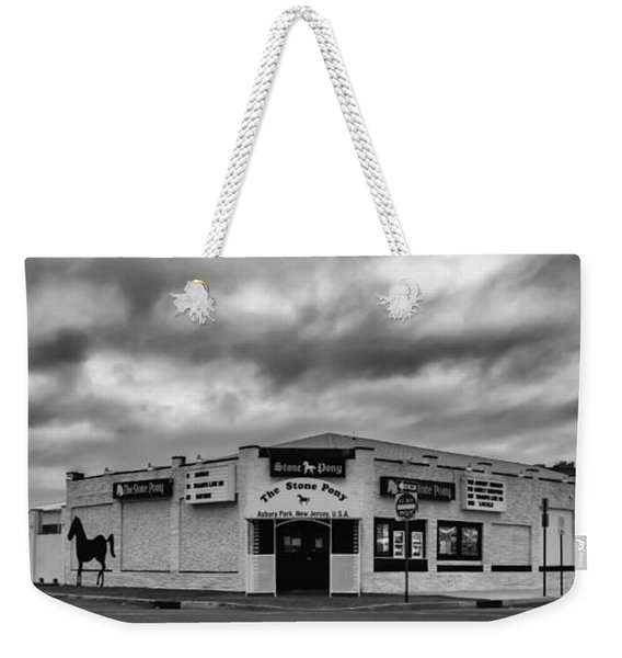 The Stone Pony Asbury Park New Jersey Black And White Weekender Tote Bag