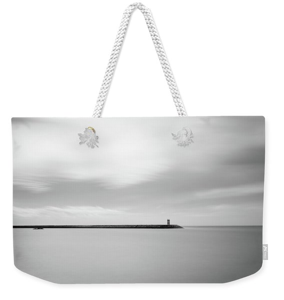 The Storm And The Pier Weekender Tote Bag