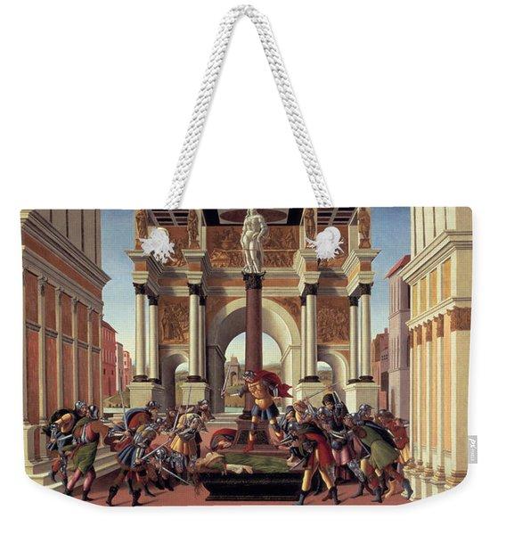 The Story Of Lucretia Weekender Tote Bag