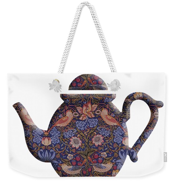 The Strawberry Thief Pattern Teapot Weekender Tote Bag