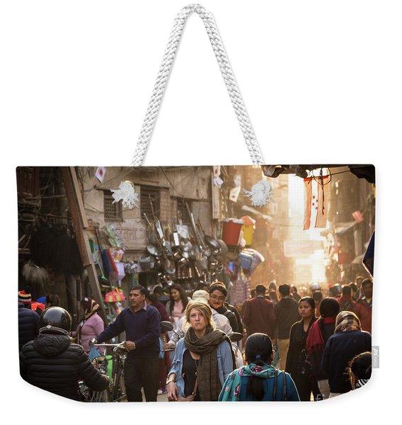 The Streets Of Kathmandu Weekender Tote Bag