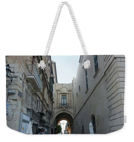 The Streets Of Valletta #valletta Weekender Tote Bag