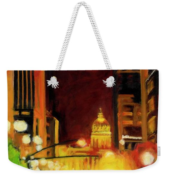 The Streets Run With Crimson And Gold Weekender Tote Bag