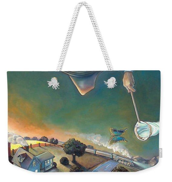 The Strife Of Wanderlust In A Dream Weekender Tote Bag