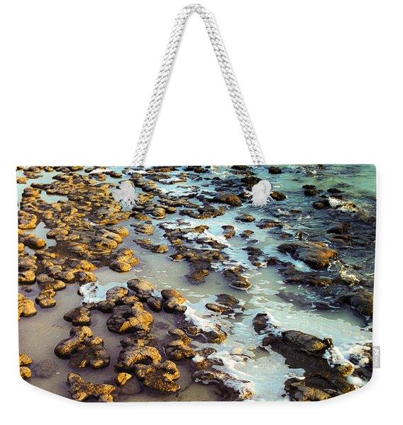 The Stromatolite Family Enjoying Its 1277500000000th Sunset Weekender Tote Bag