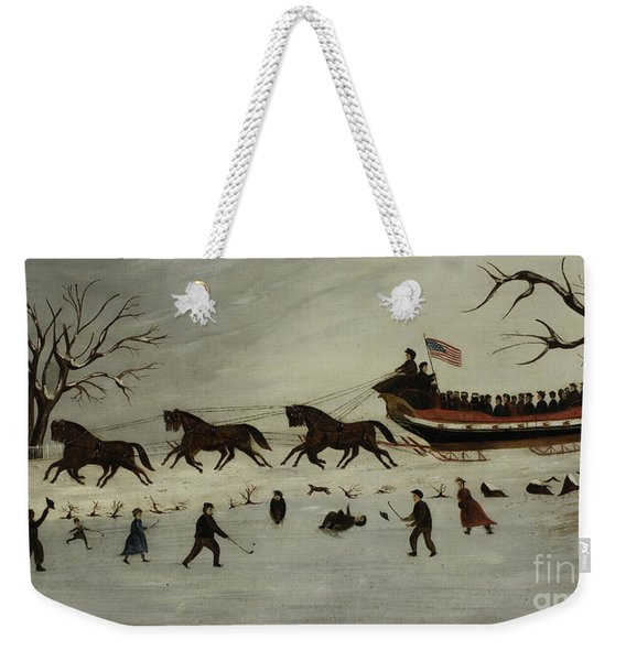 The Suffragettes Taking A Sleigh Ride Weekender Tote Bag
