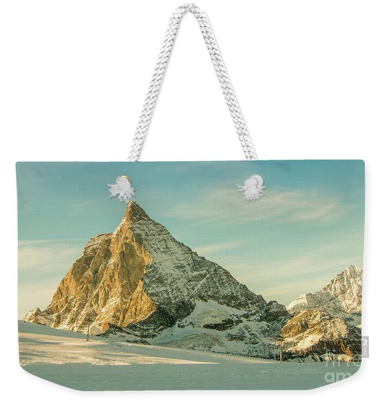 The Sun Sets Over The Matterhorn Weekender Tote Bag