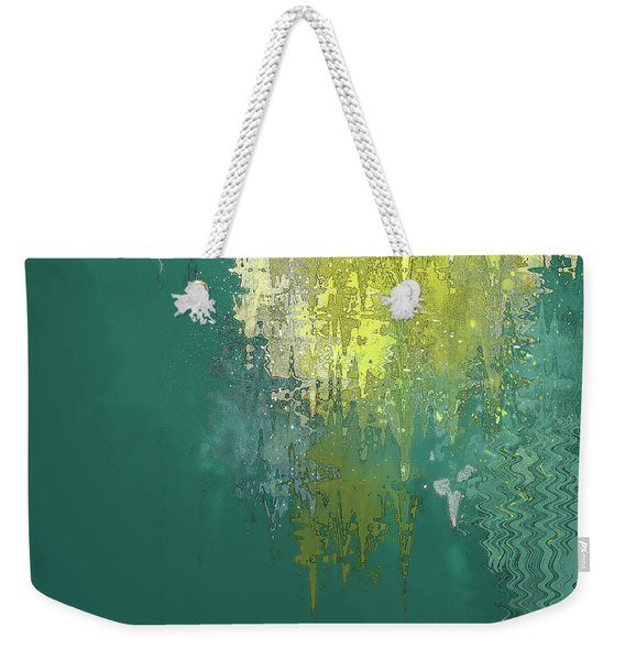 Weekender Tote Bag featuring the digital art The Sunken Cathedral by Gina Harrison