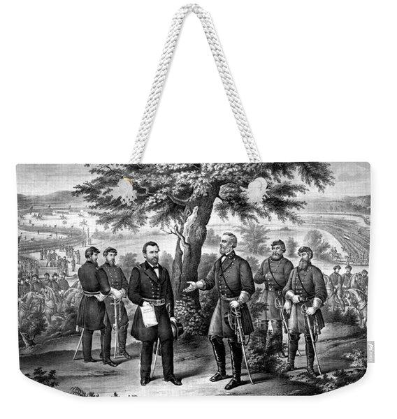 The Surrender Of General Lee  Weekender Tote Bag