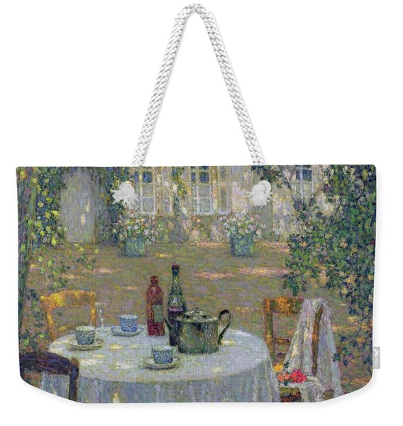 The Table In The Sun In The Garden Weekender Tote Bag