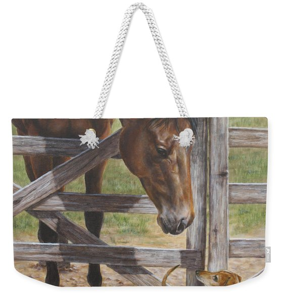 The Tall And Short Of It Weekender Tote Bag