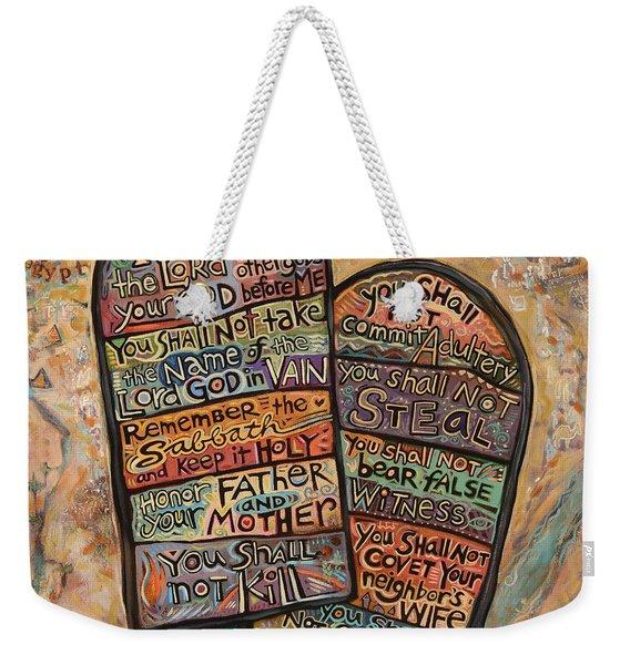 The Ten Commandments Weekender Tote Bag