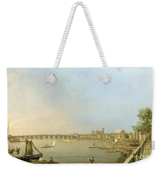 The Thames From The Terrace Of Somerset House Weekender Tote Bag