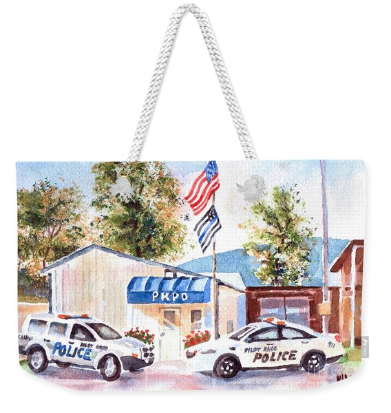 The Thin Blue Line Weekender Tote Bag